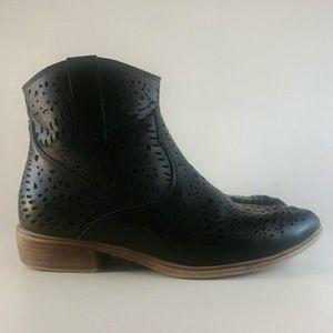 Volatile Black Cut Out Ankle Boots